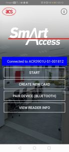 Menu SmartAccess